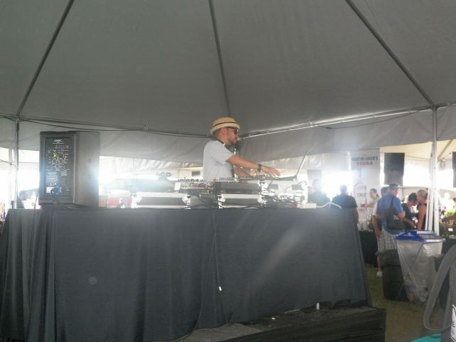 There was a DJ in the Grand Tasting area.
